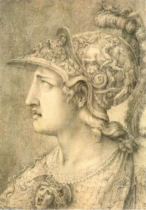 Giulio Clovio - Head of Minerva