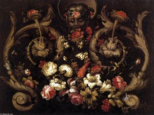 Gabriel De La Corte - Grotesques with Flowers