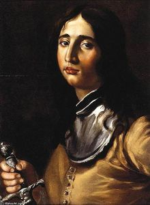 Cesare Dandini - Portrait of a Young Soldier with a Lance