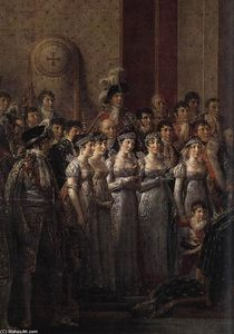 Jacques Louis David - Consecration of the Emperor Napoleon I (detail)