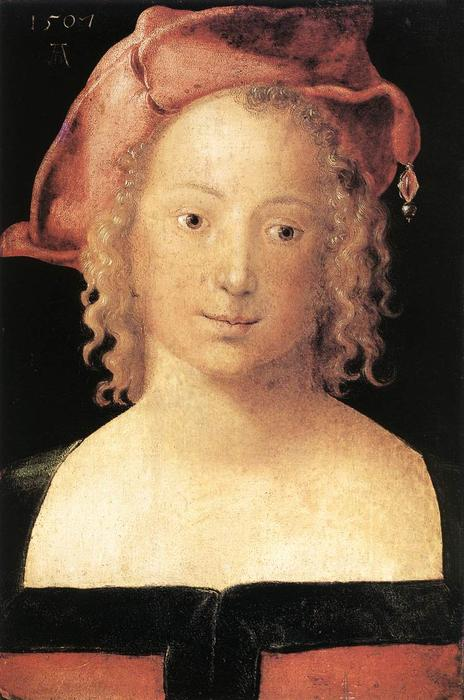 famous painting Portrait of a Young Girl of Albrecht Durer