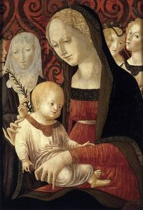 Francesco Di Giorgio Martini - Virgin and Child with St Catherine and Angels