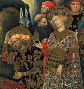 Gentile Da Fabriano - The Adoration of the Magi (detail)