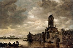 Jan Van Goyen - Castle by a River
