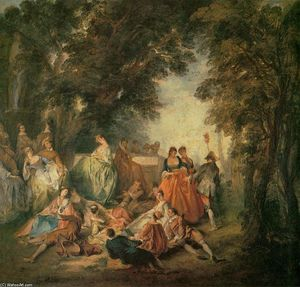 Nicolas Lancret - Company in the Park