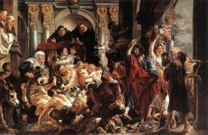 Jacob Jordaens - Christ Driving the Merchants from the Temple