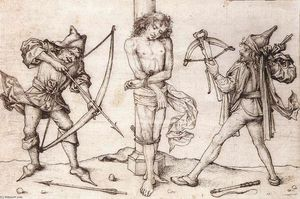 Master Of The Housebook - St Sebastian with Archers