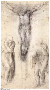Michelangelo Buonarroti - Christ on the Cross with the Virgin and St John