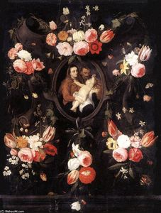 Jan Van Kessel - Holy Family