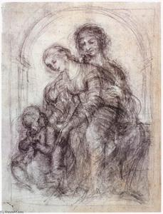 Leonardo Da Vinci - Design for St Anne