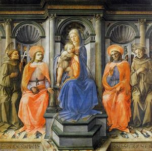 Fra Filippo Lippi - Madonna Enthroned with Saints