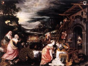 Kaspar The Elder Memberger - Noah's Ark Cycle: 5. Noah's Sacrifice of Thanksgiving