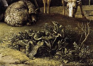 Paulus Potter - A Husbandman with His Herd (detail)