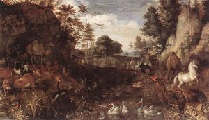 Roelandt Savery - The Garden of Eden