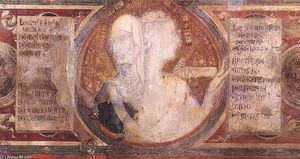 Simone Martini - Maestà (detail of the medallions)