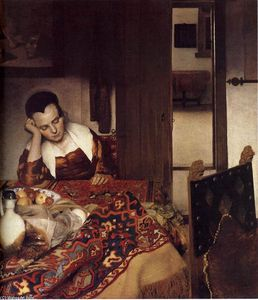 Jan Vermeer - A Woman Asleep at Table