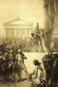 Mihaly Von Zichy - Illustration to Imre Madách's The Tragedy of Man: In Athens (Scene 5)