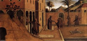 Lazzaro Bastiani - St Jerome Bringing the Lion to the Convent