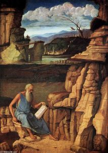 Giovanni Bellini - St Jerome Reading in the Countryside