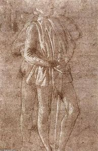 Sandro Botticelli - Study of two standing figures
