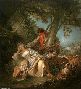 François Boucher - The Interrupted Sleep