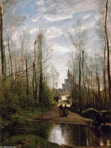 Jean Baptiste Camille Corot - The Church of Marissel, near Beauvais
