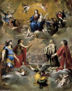Giovanni Battista Carlone - Virgin and Child in Glory with Saints