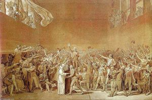 Jacques Louis David - The Oath of the Tennis Court