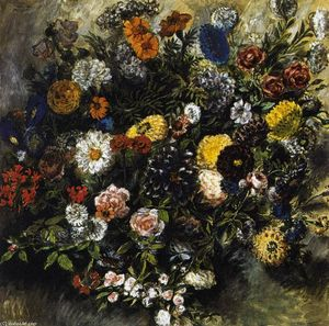 Eugène Delacroix - Bouquet of Flowers