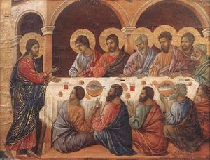 Duccio Di Buoninsegna - Appearence While the Apostles are at Table
