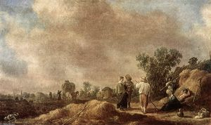 Jan Van Goyen - Haymaking
