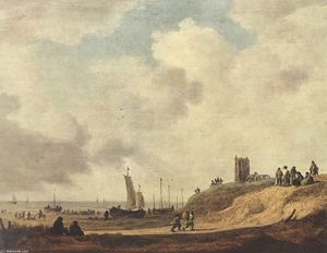 Jan Van Goyen - Seashore at Scheveningen