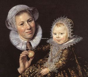 Frans Hals - Catharina Hooft with her Nurse (detail)