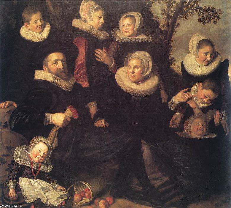 Famous Painting Family Portrait In A Landscape Of Frans Hals