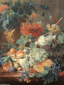 Jan Van Huysum - Fruit and Flowers