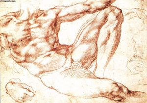 Michelangelo Buonarroti - Study for Adam