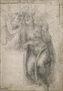 Michelangelo Buonarroti - Study for an Annunciation (recto)