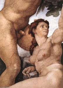 Michelangelo Buonarroti - The Fall and Expulsion from Garden of Eden (detail) (12)