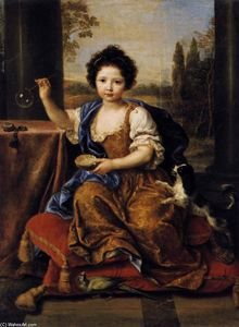 Pierre Mignard - Girl Blowing Soap Bubbles