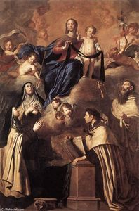Pietro Novelli - Our Lady of Mount Carmel
