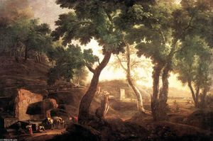 Marco Ricci - Landscape with Watering Horses