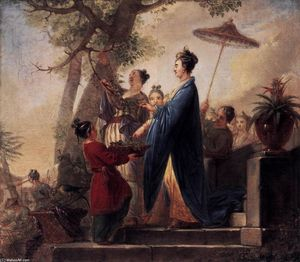 Bernhard Rode - The Empress of China Culling Mulberry Leaves
