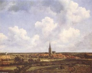 Jacob Isaakszoon Van Ruisdael (Ruysdael) - Landscape with Church and Village