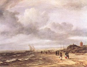 Jacob Isaakszoon Van Ruisdael (Ruysdael) - The Shore at Egmond-an-Zee