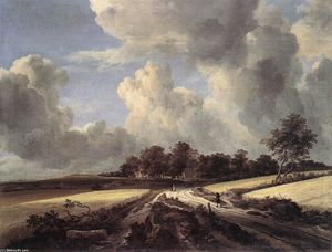 Jacob Isaakszoon Van Ruisdael (Ruysdael) - Wheat Fields