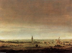 Hercules Seghers - Landscape with City on a River
