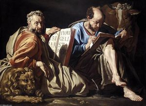 Matthias Stom - The Evangelists St Mark and St Luke