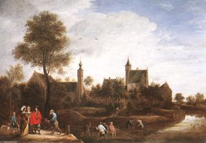 David The Younger Teniers - A View of Het Sterckshof near Antwerp