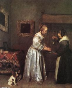 Gerard Ter Borch - Woman Washing Hands