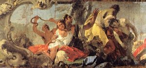 Giovanni Battista Tiepolo - The Scourge of the Serpents (detail)